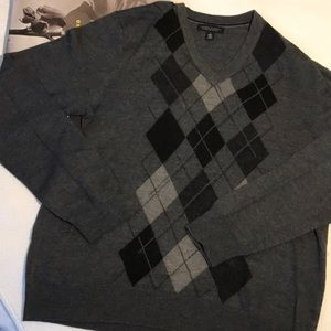 BANANA REPUBLIC merino wool argyle sweater